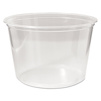 Microwavable deli containers, 16 oz, clear, 500/carton, sold as 1 carton, 500 each per carton