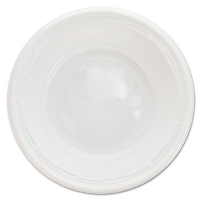 Famous service impact plastic dinnerware, bowl, 5-6 oz, white, 125/pack, sold as 1 package