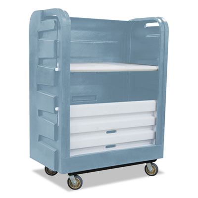 Bulk transport turnabout truck, 28 x 50 1/2 x 66 3/4, 800 lbs. capacity, gray, sold as 1 each