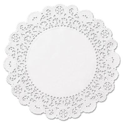"Brooklace lace doilies, round, 4"", white, 2000/carton, sold as 1 carton, 2000 each per carton"