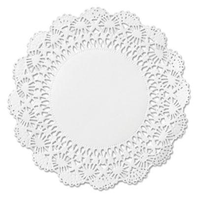 """Cambridge lace doilies, round, 10"""", white, 1000/carton, sold as 1 carton, 1000 each per carton"""