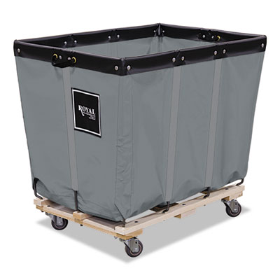 8 bushel permanent liner truck, 22 x 34 x 29 1/2, 600 lbs. capacity, gray, sold as 1 each