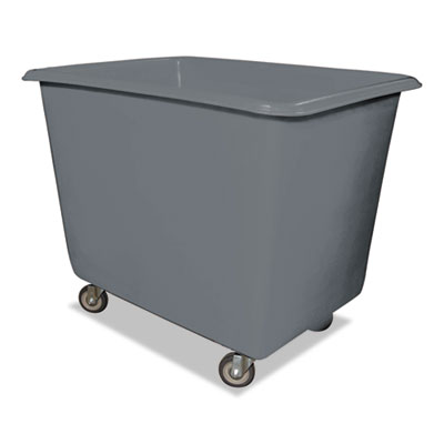 8 bushel poly truck w/galvanized steel base, 26 x 38 x 28 1/2, 800 lbs cap, gray, sold as 1 each