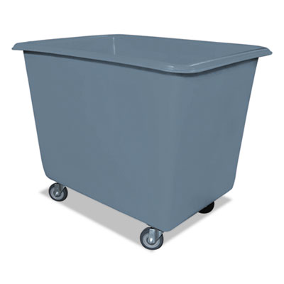6 bushel poly truck w/galvanized steel base, 24 x 34 x 26, 800 lbs. cap., gray, sold as 1 each