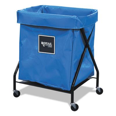 8 bushel x-frame cart with vinyl bag, 21 x 26 x 36, 150 lbs. capacity, blue, sold as 1 each