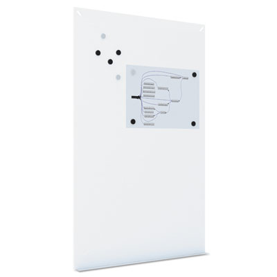 Magnetic dry erase tile board, 38 1/2 x 58, white surface, sold as 1 each