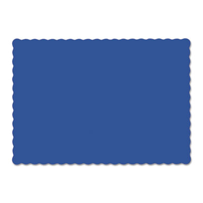 Solid color scalloped edge placemats, 9 1/2 x 13 1/2, navy blue, 1000/carton, sold as 1 carton, 1000 each per carton