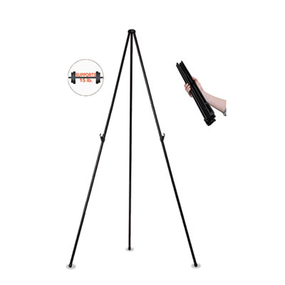 "Instant easel, 61 1/2"", black, steel, heavy-duty, sold as 1 each"