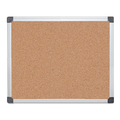 Value cork bulletin board with aluminum frame, 24 x 36, natural, sold as 1 each