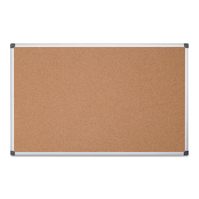 Value cork bulletin board with aluminum frame, 48 x 96, natural, sold as 1 each