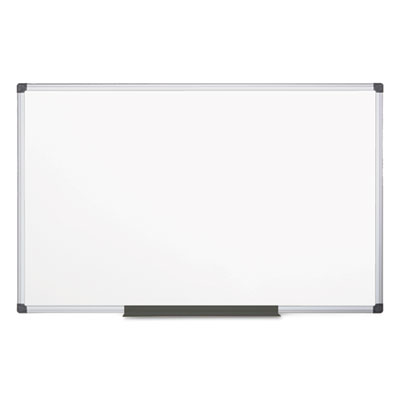 Value lacquered steel magnetic dry erase board, 48 x 96, white, aluminum frame, sold as 1 each