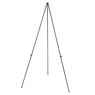 "Instant easel, 61 1/2"", black, steel, lightweight, sold as 1 each"