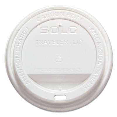 Traveler drink-thru lid, white, 1000/carton, sold as 1 carton, 1000 each per carton