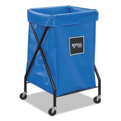 6 bushel x-frame cart with vinyl bag, 20 x 22 x 36, 150 lbs. capacity, blue, sold as 1 each