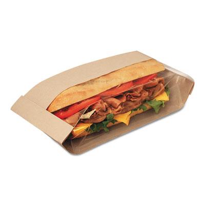Dubl view sandwich bags, 10 3/4 x 3 1/2 x 2 1/4, natural brown, 500/carton, sold as 1 carton, 500 each per carton