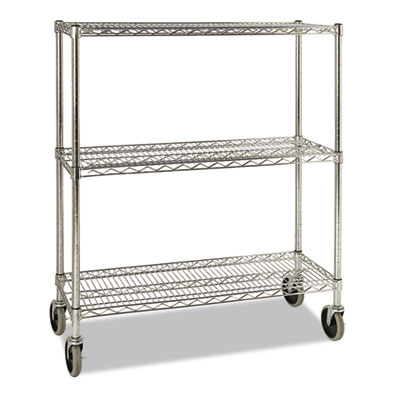 Prosave shelf ingredient bin cart, three-shelf, 38w x 14d x 48 3/8h, chrome, sold as 1 each