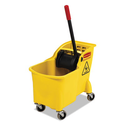 Tandem 31-quart bucket/wringer combo, yellow, sold as 1 each