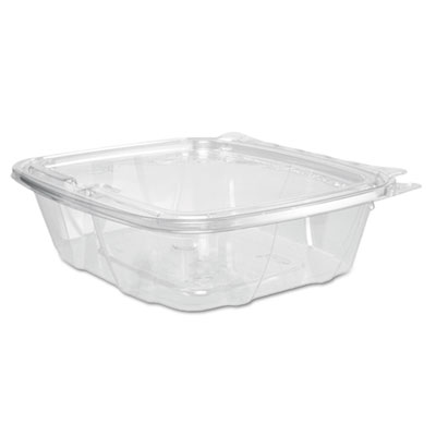 Clearpac container lid combo-packs, 6.4 x 1.9 x 7.1, 24 oz, clear, 200/carton, sold as 1 carton, 200 each per carton