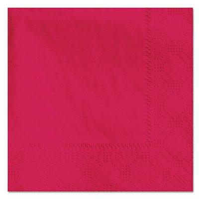 Beverage napkins, 2-ply, 9 1/2 x 9 1/2, red, 1000/carton, sold as 1 carton, 1000 each per carton