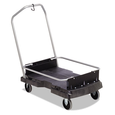 Ice-only cart, 500-lb cap, 21 2/5w x 39 1/10d x 15h, black, sold as 1 each