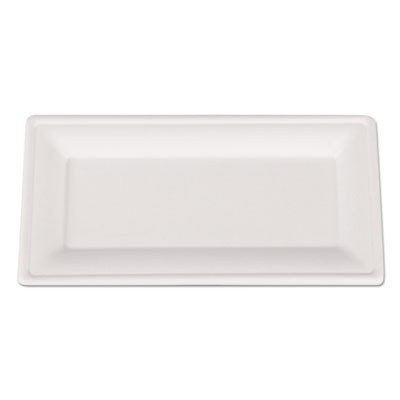 Champware molded fiber tableware, rectangle, 10 x 5, white, 500 per carton, sold as 1 carton, 500 each per carton
