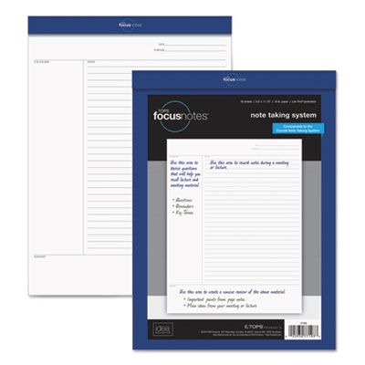 Focusnotes legal pad, 8 1/2 x 11 3/4, white, 50 sheets, sold as 1 each