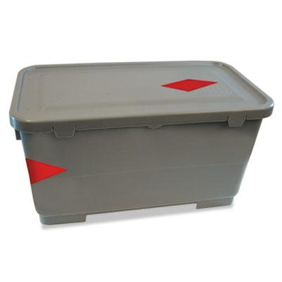 Microfiber charging bucket, 6 gal, polypropylene, gray, 11 x 21 x 11 1/2, sold as 1 each