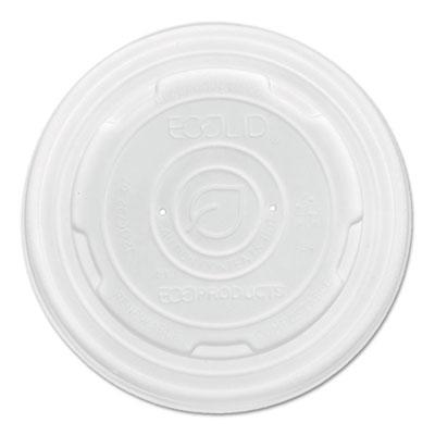 Ecolid renewable & compost food container lids, fits 8oz sizes, 50/pk, 20 pk/ct, sold as 1 carton, 1000 each per carton