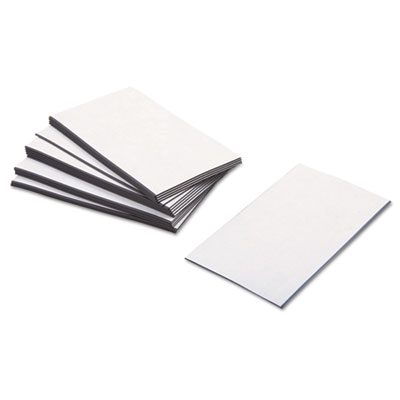 Business card magnets, 3 1/2 x 2, white, adhesive coated, 25/pack, sold as 1 package
