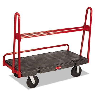 A-frame panel truck, 2000-lb cap, 24 1/4w x 48d x 45h, black/red, sold as 1 each