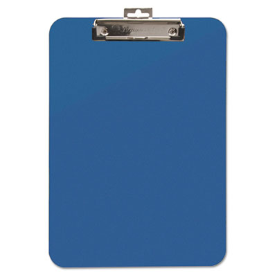 "Unbreakable recycled clipboard, 1/4"" capacity, 8 1/2 x 11, blue, sold as 1 each"