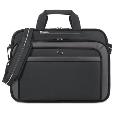 "Pro 17.3"" briefcase, 17 x 5 1/4 x 13, gray, sold as 1 each"