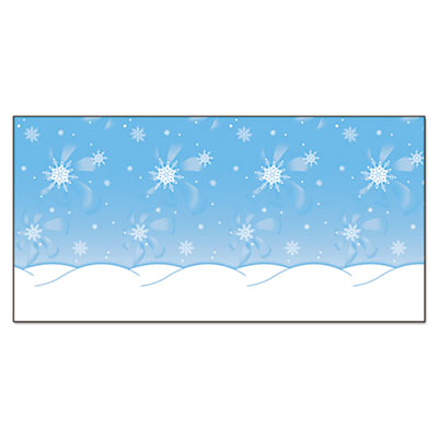 "Fadeless designs bulletin board paper, winter time scene, 48"" x 50 ft., sold as 1 roll"