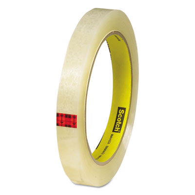 """Transparent tape, 1/2"""" x 72yds, 3"""" core, clear, sold as 1 roll"""