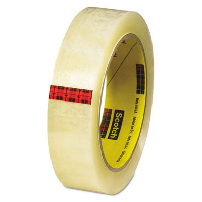 """Transparent tape, 1"""" x 72yds, 3"""" core, clear, sold as 1 roll"""