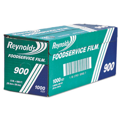 Continuous cling food film, 12 in x 1000 ft roll, clear, sold as 1 carton
