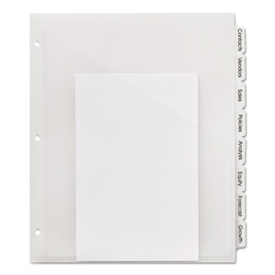 Index maker print & apply clear label plastic dividers, 8-tab, letter, sold as 1 set