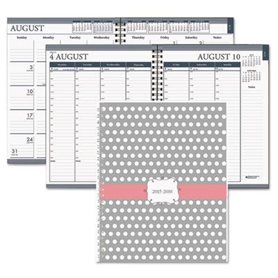 Academic monthly/weekly hard cover planner, 7 x 9, dots, 2015-2016, sold as 1 each