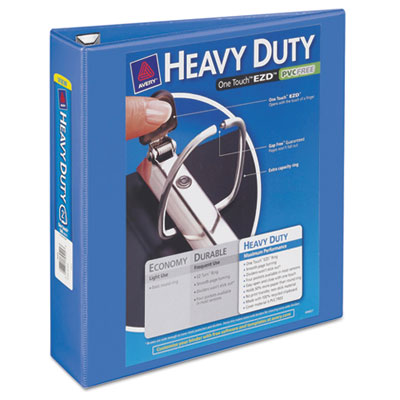 "Heavy-duty view binder w/locking 1-touch ezd rings, 2"" cap, periwinkle, sold as 1 each"