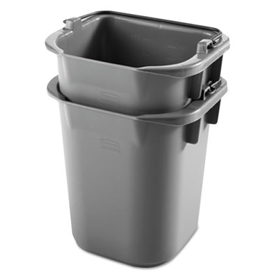 Executive heavy-duty pail, gray, plastic, 9 3/10w x 7 1/2d x 8 1/2h, sold as 1 each