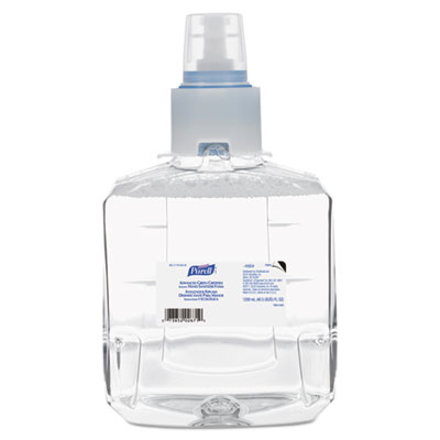 Advanced green certified instant hand sanitizer refill, 1200ml, fragrance-free, sold as 1 each
