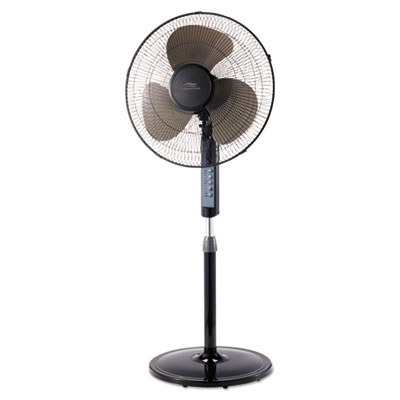 "16"" remote control stand fan, three speeds, black, sold as 1 each"