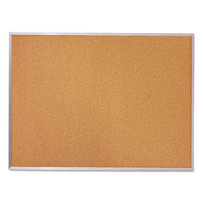 Cork bulletin board, 96 x 48, silver aluminum frame, sold as 1 each