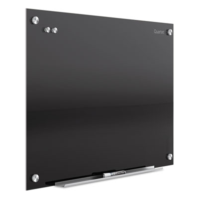Infinity magnetic glass marker board, 24 x18, black, sold as 1 each