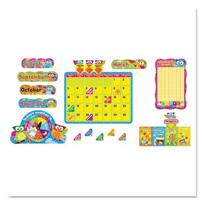 Owl-stars calendar bulletin board, 17 1/2 x 23 1/4, 100 pieces, sold as 1 each