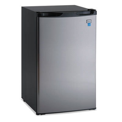 "4.4 cf refrigerator, 19 1/2""w x 22""d x 33""h, black/stainless steel, sold as 1 each"