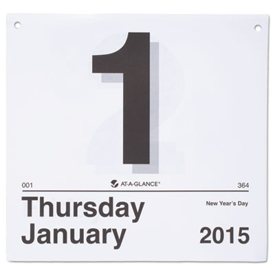 "Today is"" daily wall calendar refill, 8 1/2 x 8, white, 2016, sold as 1 each"