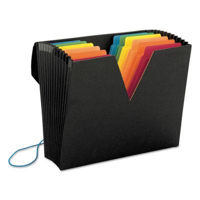 Colorvue expanding file with supertab, 13 pocket, letter, black/asstd., sold as 1 each