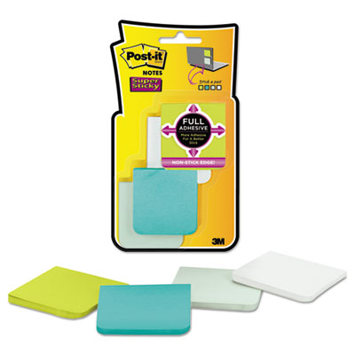 Full adhesive notes, 2 x 2, assorted bora bora colors, 8/pk, sold as 1 package