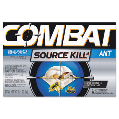 Combat ant killing system, child-resistant, kills queen & colony, 6/box, sold as 1 box, 6 each per box